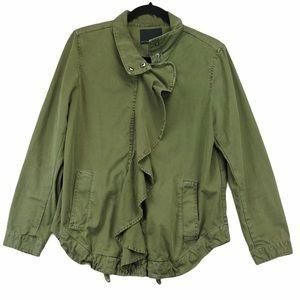 Banana Republic Army Green Flutter Denim Jacket